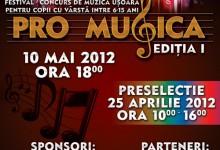 """FESTIVALUL DE MUZICĂ UȘOARĂ PENTRU COPII """"PRO MUSICA"""""""