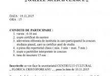 """Festival concurs """"Galele muzicii clasice"""""""