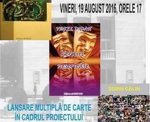 Trei șiruri neserioase, dar prietenești, de cuvinte – vineri 19 august, ora 17.00