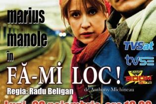"""""""Fă-mi loc!"""" – Luni, 28 noiembrie, ora 19.00 –  Casa Municipală de Cultură """"Florica Cristoforeanu"""""""