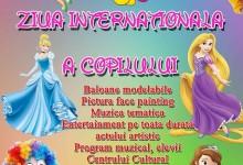 1 iunie ora 11.00 – 13.00 Parcul Municipal – Ziua Internationala a copilului