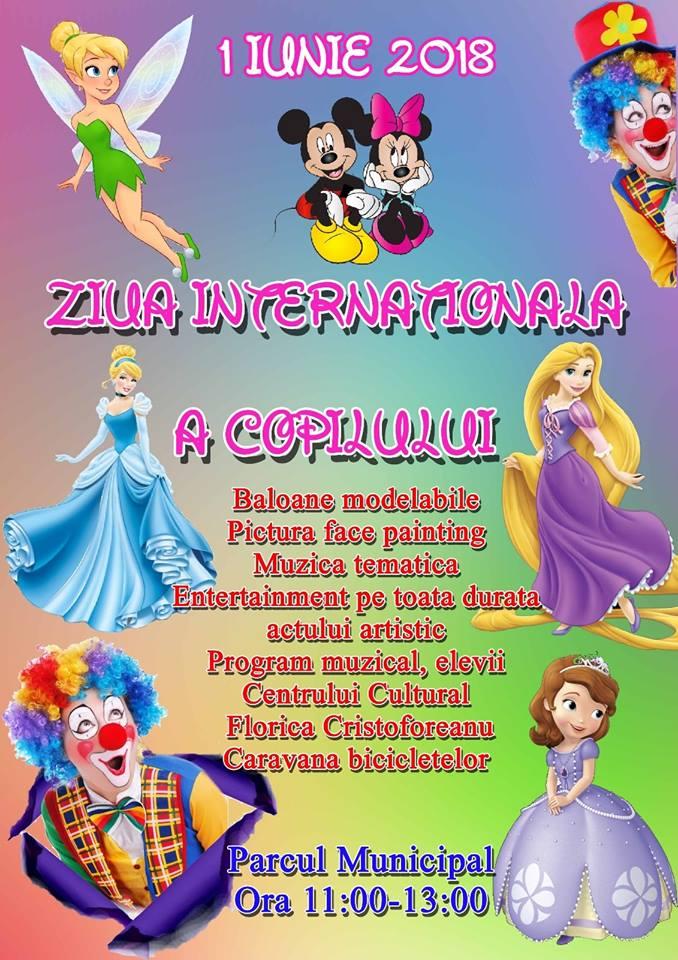 1 Iunie Ora 11 00 13 00 Parcul Municipal Ziua Internationala A Copilului Centrul Cultural Florica Cristoforeanu
