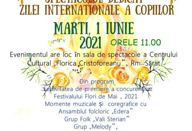 """Vă așteptăm la Centrul Cultural """"Florica Cristoforeanu"""" pentru a sărbători această zi, marți, 1 Iunie, începând cu ora 11!"""